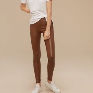 Wilfred Free | Vegan Leather High Waist Daria Pant